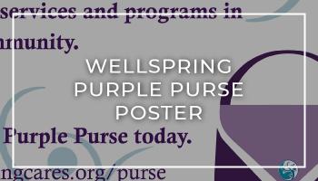 Wellspring Purple Purse Flyer
