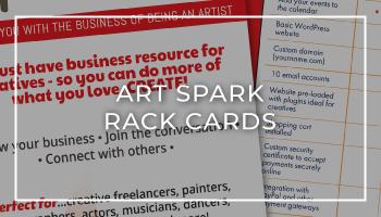 Arts Spark Rack Card