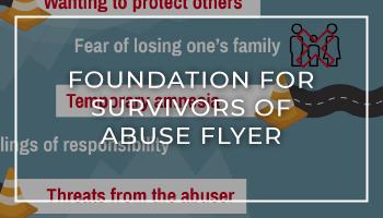 Foundation for Survivors of Abuse Roadblocks Flyer